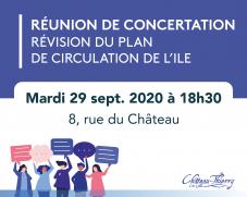 Réunion de concertation publique - Révision du plan de circulation de l'Île