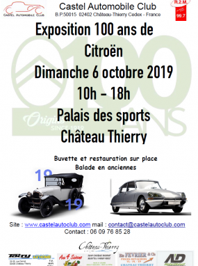 Exposition 100 ans de Citroën
