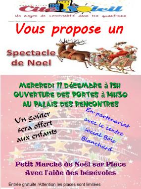 Spectacle de Noël Cité Soleil