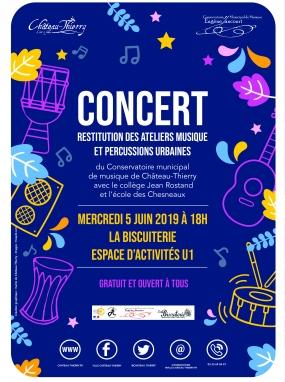 Concert Restitution des Ateliers Musique