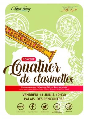 Concert Quatuor de clarinettes