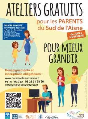 Ateliers gratuits pour les parents du Sud de l'Aisne