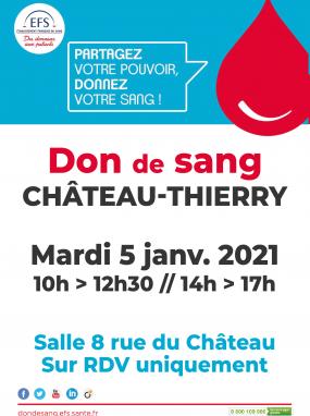 Don du sang - 5 janvier 2021
