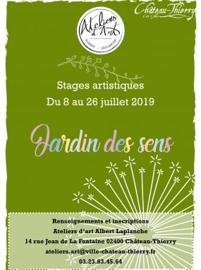 Jardin des sens - Stages artistiques