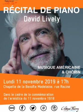 David Lively : Récital de piano