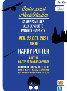 """Soirée familiale - Jeux de société sur le thème """"Harry Potter"""""""