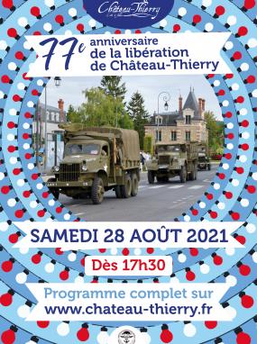 77e anniversaire de la libération de Château-Thierry