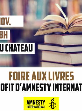 Foire aux livres au profit d'Amnesty International