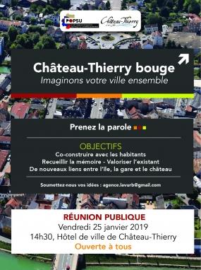 Réunion publique - Château-Thierry bouge, imaginons notre ville ensemble