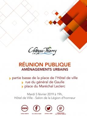 Réunion publique - Aménagements urbains