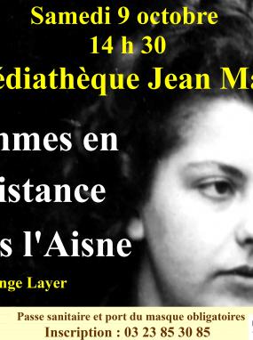 Conférence - Femmes en Résistance dans l'Aisne