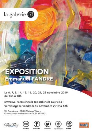 Exposition Emmanuel Fandre