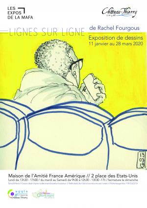 Exposition de dessins de Rachel Fourgous
