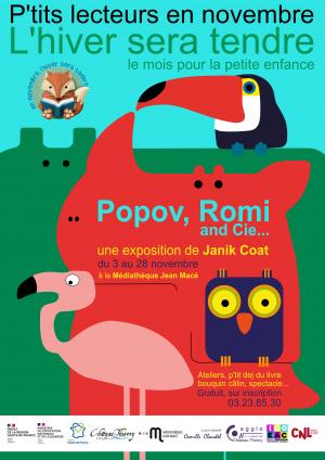 """Exposition """"Popov, Romi et Cie"""" de Janik Coat"""