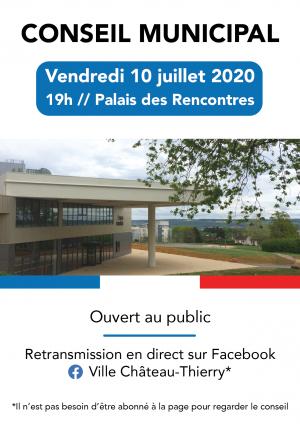 Conseil municipal du 10 juillet 2020