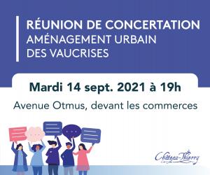Réunion publique de concertation - Aménagement urbain des Vaucrises