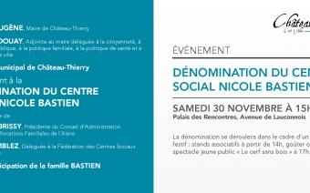 Dénomination du centre social Nicole Bastien