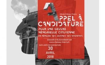 Appel à candidature pour une oeuvre mémorielle © Ville de Château-Thierry