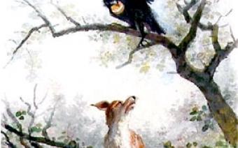 Le Corbeau et le Renard - Auguste Delierre (collection Musée Jean de La Fontaine)