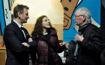 Isabelle Bournat aux côtés des membres du Théâtr'O