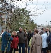 visite du jardin partagé des Comtesses