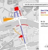 Plan stationnement gratuit réglementé